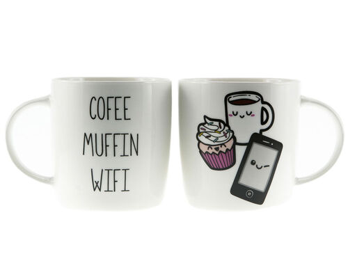 TAZA COFFEE MUFFIN WIFI*10CM