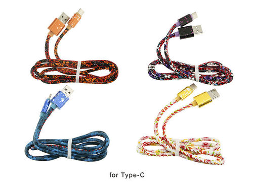 CABLE USB TIPO C FLORES*100CM