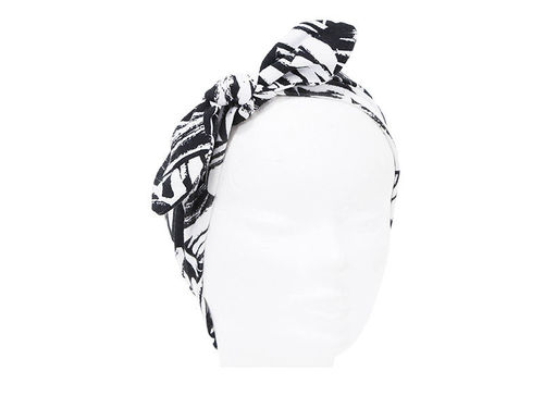 TURBANTE GRIS ESTAMPADO